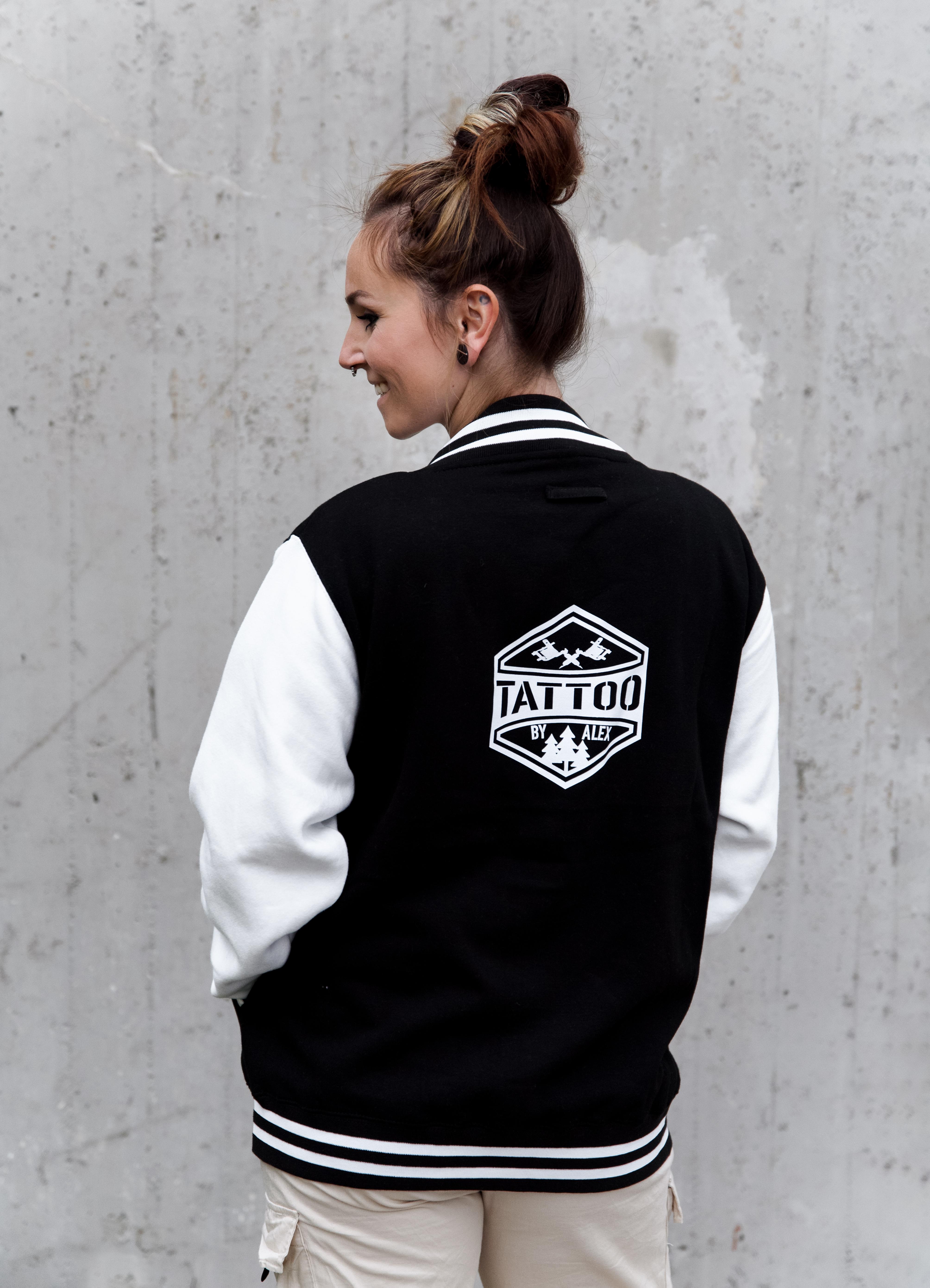 Baseball Jacke schwarz/weiss Girls